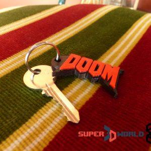 Porte-clefs Doom imprimé en 3D