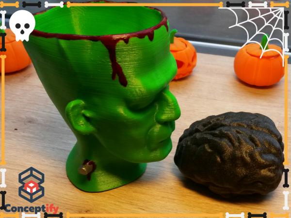 Tête Monstre Frankenstein pour Halloween