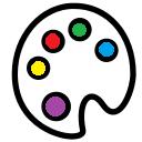 Icône palette de couleurs