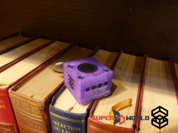 Porte clés Gamecube imprimé en 3D