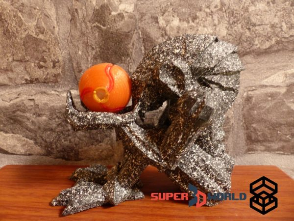 3d-printed Chozo Statue from super Metroid