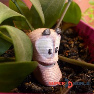 Worms figure from the videogame