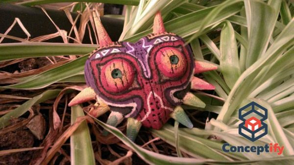 Wooden decorative Majora's mask