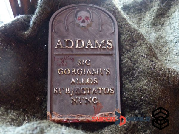 Addams family tombstone