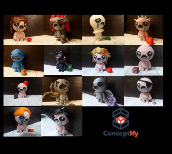 All characters figures (The binding of Isaac)