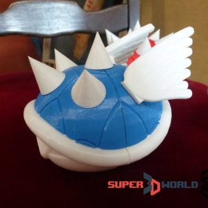 3D printed blue spiked Koopa Shell (Mario Kart)
