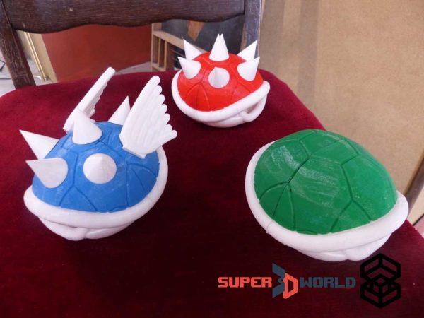 3D printed Koopa Shells (Mario Kart)