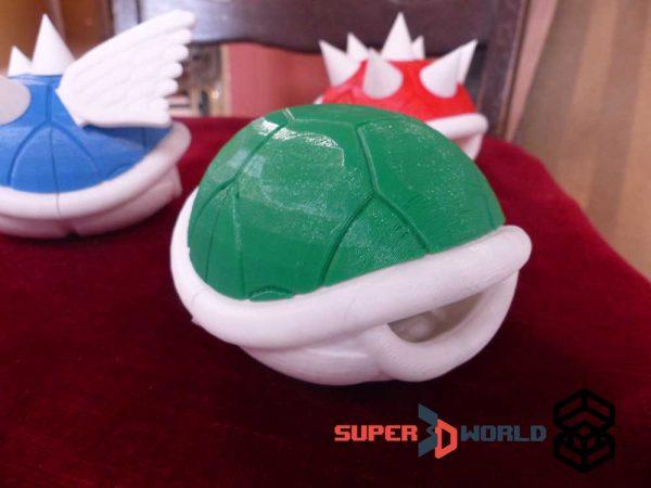 3D printed green Koopa Shell (Mario Kart)