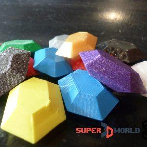 Lot de rubis (Zelda) imprimés en 3D